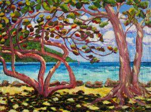 Piti tumu rau, (Two trees) Huahine