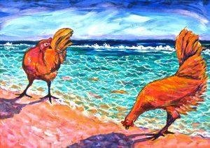 Piti Moa Ufa - Two Hens, Huahine
