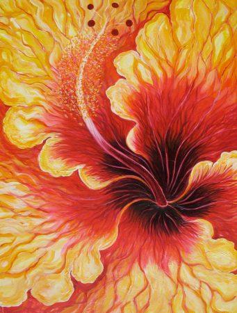 Aute rea I, Yellow Hibiscus I